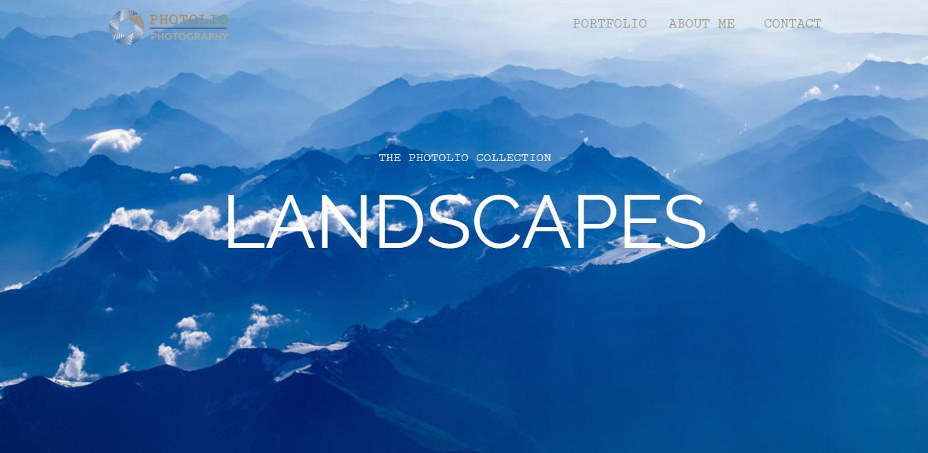 Landscapes Portfolio Hero